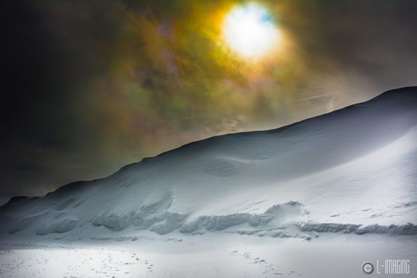Unreal-1. winter, sky, sun, white, snow, mountains, art, beauty, clouds, skitrip, snowbasin, treed. buy photo
