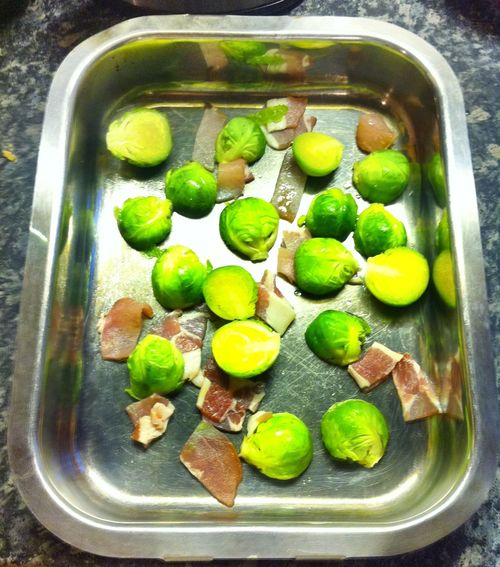Not just for Christmas. food, recipe, fun, bacon, sprouts, iphone4, ilobsterit, 2015onephotoeachday. buy photo