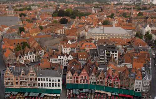 Bruges Belfry view on Market Square. buy photo