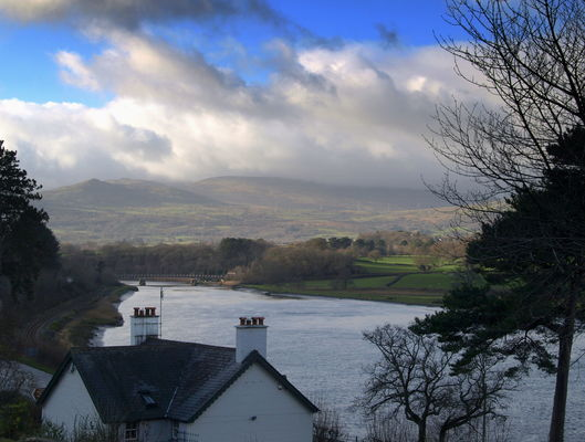 Scenic towards River Conwy, Wales. county, sky, house, lake, building, wet, beauty, wales, clouds, river, landscape, scenery, stream, tour, open, country, seasonal, north, scenic, visit, area, serene, welsh, northern, conwy, bodnant, attraction, northwales, ©2014tonyworrall, welovethenorth. buy photo