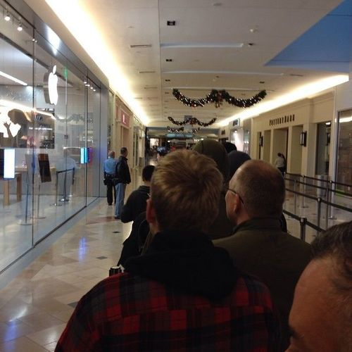 In line - so close!  #Grandopening of the #apple #applestore at #franklinparkmall #ohio #nwohio #toledo #tekkbabe859 #blondebetweenthemountains. ohio, apple, square, tags, applestore, toledo, squareformat, format, tshirts, app, grandopening, nwohio, franklinparkmall, tekkbabe859, iphoneography, instagram, blondebetweenthemount. buy photo