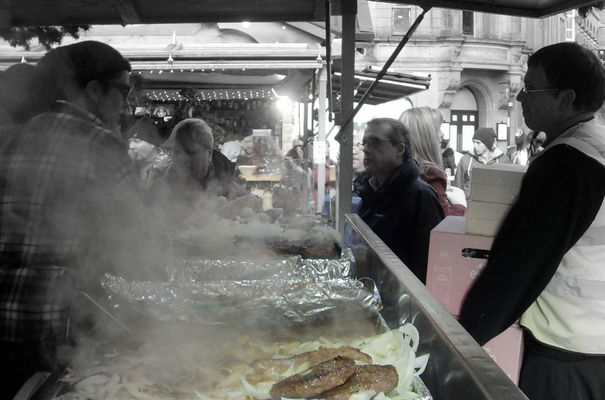 Steaming food stall candid. county, street, city, uk, england, people, manchester, stream, tour, open, place, northwest, market, candid, country, north, visit, location, area, buy, northern, update, stalls, shoppers, attraction, manc, gmr, ©2014tonyworrall, welovethenorth. buy photo