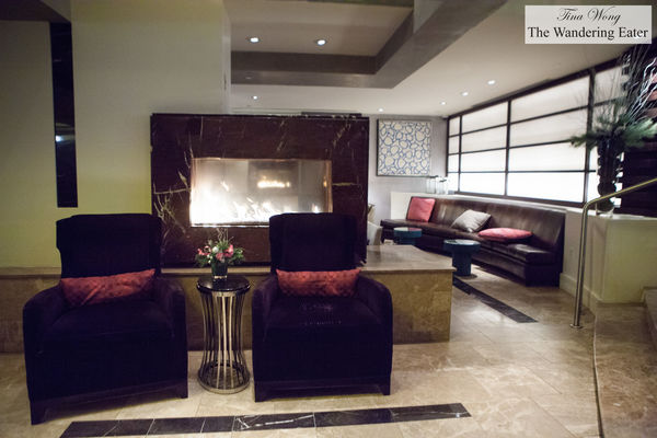 The cozy lobby with a fireplace. hotel, washingtondc, hotelpalomar, kimptonhotel. buy photo