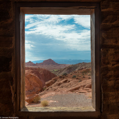 Cabin Painting.jpg. valleyoffire, rock, landscape, us, cabin, nikon, lasvegas, nevada, places, hdr, d800. buy photo