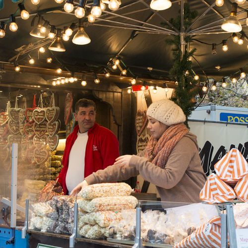 busy. christmas, old, people, germany, lights, mood, frankfurt, fair, tradition, weinachtsmarkt. buy photo