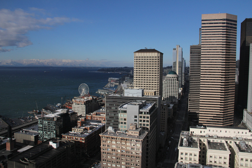 From Smith Tower. seattle, washington, downtown, unitedstates, digitalframe, ilobsterit. buy photo