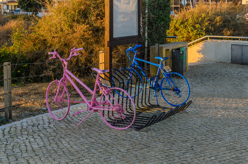 Two colors 206. algarve, bicicleta, bicycle, blue, colors, nikkor35mm18, nikond5100, objeitos, pink, portugal, ruijorge, street, urbanphotography, portimão, farodistrict, 933, 206. buy photo