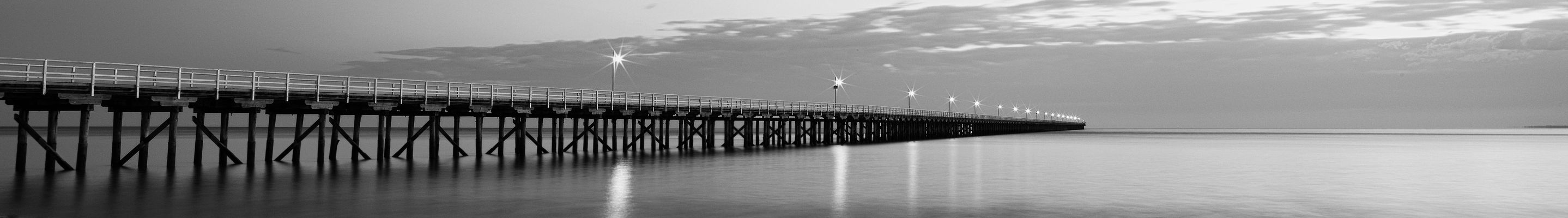 URANGAN PIER. longexposure, pier, blackwhite, queensland, harveybay. buy photo
