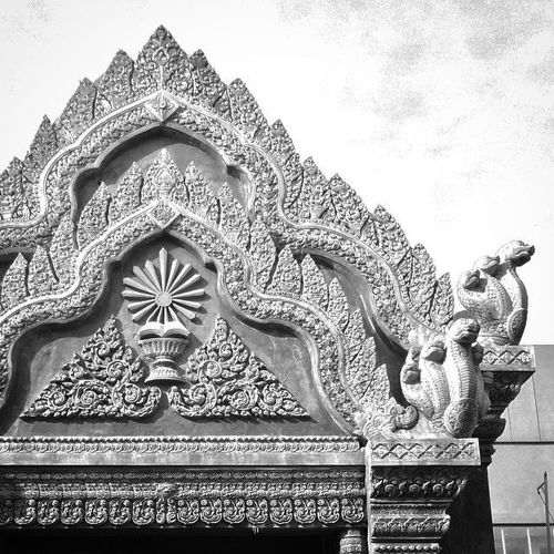 Standard issue Buddhist gateway decoration. square, squareformat, iphoneography. buy photo