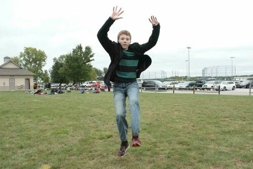 Luke jumping at a track meet. buy photo