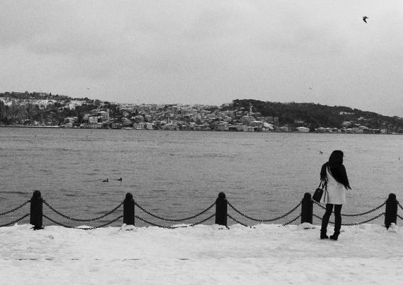 loneleness. white, snow, black, istanbul, loneleness. buy photo