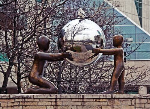 Just Reflecting. statue, canon, reflections, 60d, theflickrloungebestof. buy photo