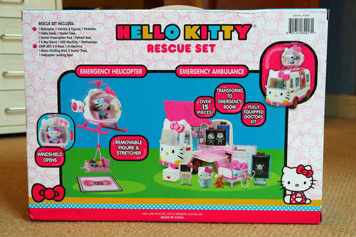 Hello Kitty Rescue Set. hello, pink, rescue, set, hospital, thomas, kitty, ambulance, sanrio, helicopter, strectcher. buy photo