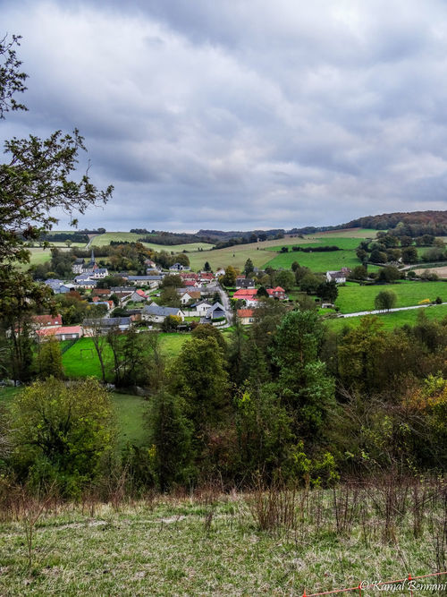 Autumn in the Picardie. trees, sky, france, green, nature, clouds, landscape, fields, picardie. buy photo
