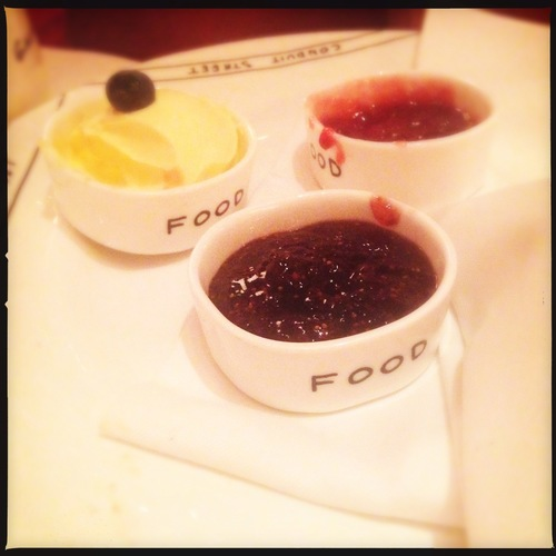 FOOD - Jam & cream for scones @ Sketch! #Hipstamatic #Photography. camera, phone. buy photo