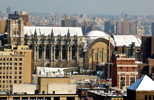 Wintery NYC From Above. nyc, newyorkcity, winter, snow, cold, rooftop, buildings, photography, taxi. buy photo