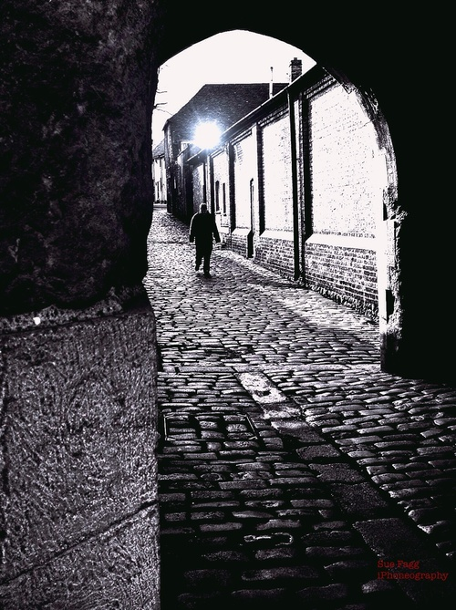 intrusion. man, dark, alley, spooky, alleyway, challenge, filmnoir, sandwichkent, getpushed, suefagg, fotorapp. buy photo