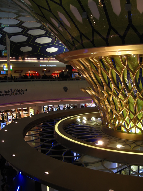 Abu Dhabi International Airport. architecture, ceiling, dome, curved, monumental, abudhabiairport, abudhabiinternationalairport. buy photo