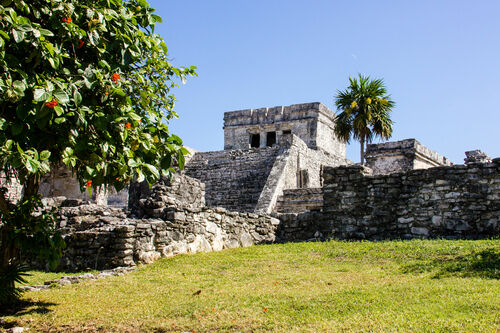 Tulum, Mexico. travel, archaeology, architecture, canon, mexico, photography, interesting, ancient, maya, ruin, yucatan, tulum, naturallight, adventure, explore, backpacking, mayan, tropical, caribbean, dslr, tropics, centralamerica, lostcity, joemarshall, jgmarshall. buy photo