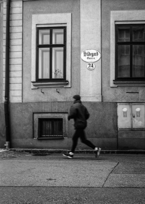 Run, Forrest, run.... man, streetphotography, streetlife, running, jogging, streetview, streetshot, blackwhitestreetphotography. buy photo