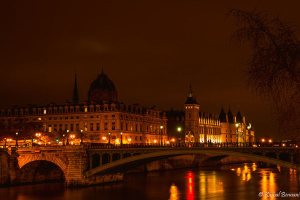 Ile de la Cité, Paris. longexposure, bridge, light, sky, paris, france, reflection, art, seine, architecture, night, clouds, cityscape, greatphotographers. buy photo