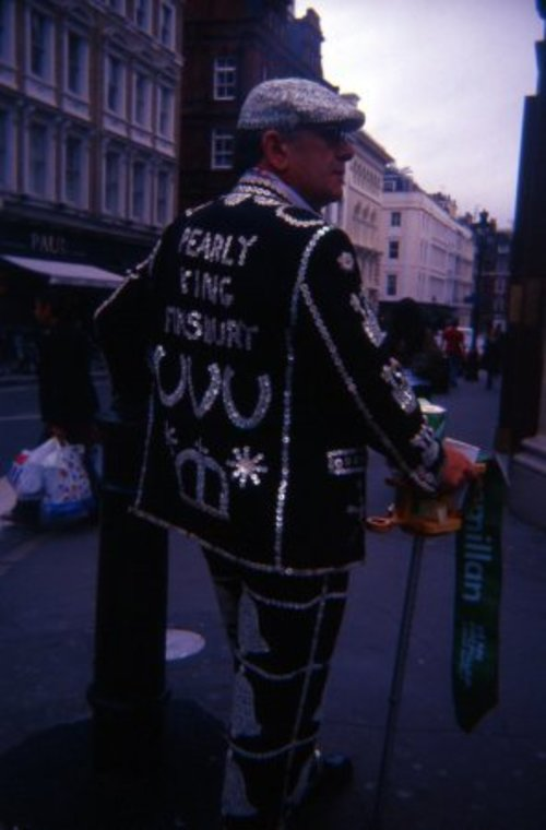 Pearly King Finsbury. london, film, 35mm, holga, lomo, lomography, slide, coventgarden, expired, k202. buy photo