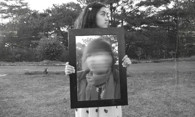 Framed Friend. blackandwhite, photoshop, model, nikon, philippines, surreal, teen, frame, teenager, baguio, nikond5100. buy photo