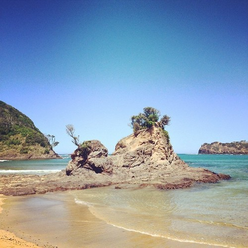 The rock formation at Matapouri Bay #nz #newzealand #northland #bayofislands #rock #summer. square, squareformat, rise, iphoneography. buy photo