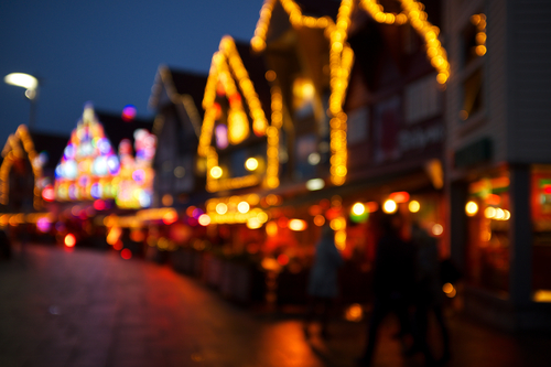 a city street filled with lots of traffic. christmas, house, lights, navidad, luces, casas. buy photo