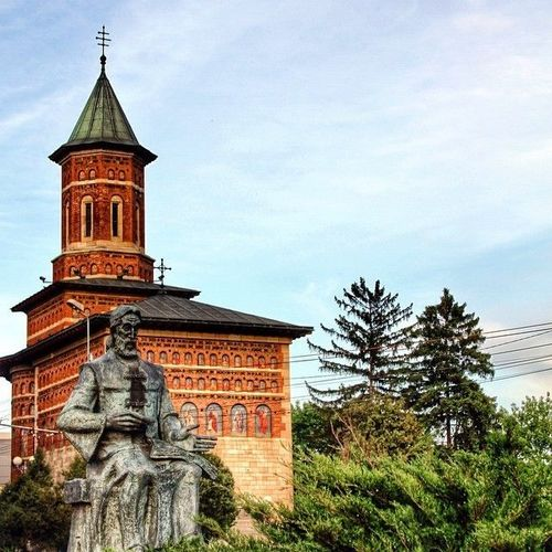 """Biserica """"Sf. Nicolae Domnesc"""" (Royal Saint Nicholas Church) was founded by Stefan cel Mare (Stephen the Great) between 1491-1492 and it stands for the oldest religious dwelling in iasi.   #nicolae #domnesc #stefan #nicholas #saint #iasi #Romania  #church. square, squareformat, iphoneography. buy photo"""