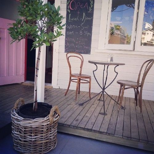 Our new shrubs in rustic baskets outside the cafe. #cuckoocafe #greytown. square, sierra, squareformat, iphoneography. buy photo