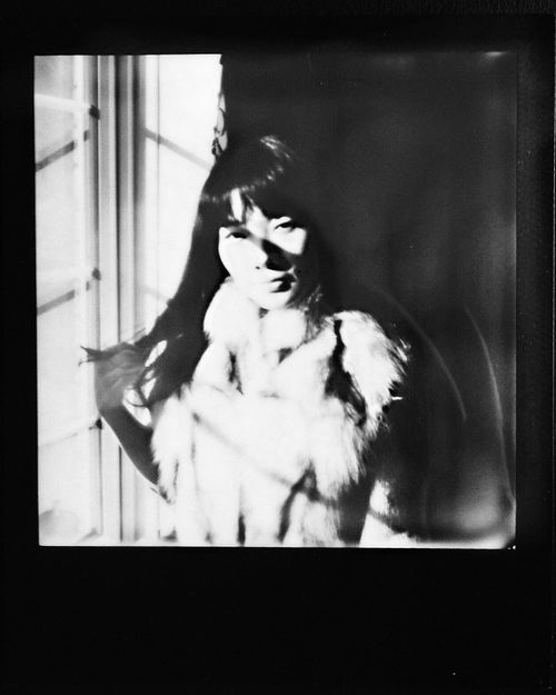 Roxanne Polaroid 2. portrait, bw, beautiful, project, polaroid, model, pretty, chinese, impossible. buy photo