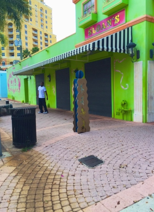Arts Bollard. street, city, windows, light, urban, color, green, colors, wall, outside, alley, waterfront, florida, outdoor, c, perspective, pedestrian, westpalmbeach, walls, strips, bollard, awnings, southflorida, bollards, pavers, windowboxes, overhands, ilobsterit, ilobster, iphone6plusbackcamera415mmf22. buy photo