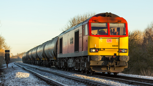 A lovely crisp December morning sees DB Class 60 no 60040 approaching the Diamond Crossing at Newark on 06-12-2014 with a Lindsey to Kingsbury loaded oil train. uk, greatbritain, autumn, england, sun, cold, color, colour, colors, sunshine, contrast, train, canon, flickr, december, colours, dof, unitedkingdom, sunny, trains, frosty, db, 5d, tug, newark, frontpage, britishrail, nottinghamshire, charter, sunnyday, steamtrain, dbs, 2014, canon100400l, networkrail, newarkcastle, decembersun, class60, newarknorthgate, 60040, dbschenker, canon5dmk3, railcharter, 5dmk3, 5d3, 5diii, canoneos5dmk3, newarkdiamondcrossing, ilobsterit. buy photo